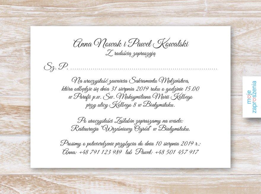Zimowe Kwiaty Zaproszenia I Zawiadomienia ślubne Moje Zaproszenia