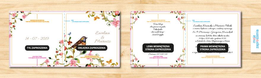 Własny Projekt Zaproszenia I Zawiadomienia ślubne Moje Zaproszenia