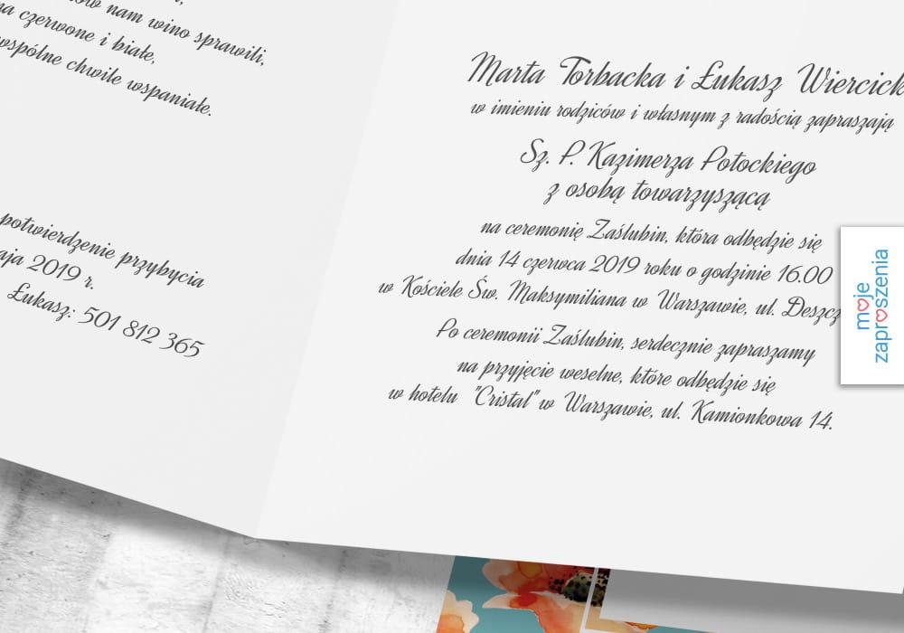 Morskie Maki Zaproszenia I Zawiadomienia ślubne Moje Zaproszenia